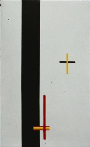 Lazlo Moholy-Nagy, Construction in enamel, 1922