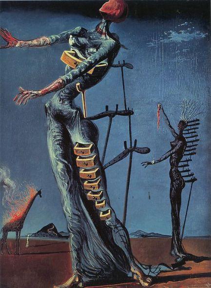 Salvador Dalì, La giraffa che brucia, 1937.